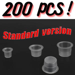 200 PCS Ink Tattoo Cups Pigment microblading pots caps plastic makeup UK