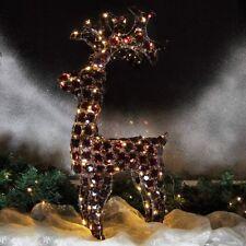 LED Rentier Acryl 65 cm beleuchtet 100 LED warmweiß für Weihnachten innen außen