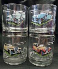 New ListingWalker's DeLuxe, Straight 8's Classic Cars Barware Glasses Set of 4