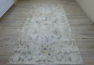 Anatolian Hand Knotted Vintage Carpet Turkish Oriental Ethnic Area Rug 6x9 ft