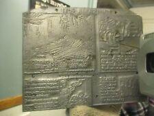 Rare Vtg 1975 Its Amazing Comic Ad Metal Printing Press Block Stamp Ink