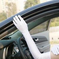 Fashion Long Gloves Satin Opera Glove Summer Bike Sun Protection Gloves BI