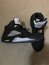 b2c9540bb141 Nike Air Jordan Retro V 5 OG Black Metallic Silver Size 12. VERY NICE!