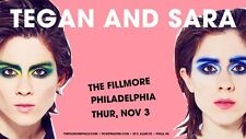 """TEGAN & SARA """"LOVE YOU TO DEATH TOUR"""" 2016 PHILLY CONCERT POSTER-Synthpop Music"""