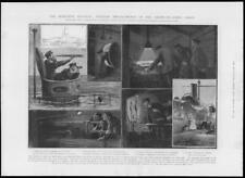 1904 Antique Print - NAVAL Submarine A1 Torpedo Periscope Manometers (194)