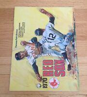 Boston Red Sox Fenway Park Official Vintage 1970 Program Scorecard Magazine