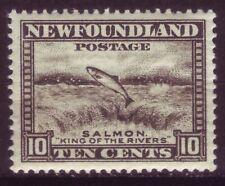 NEWFOUNDLAND 1932-38; SALMON LEAPING FALLS; SHORT SET OF 1;SC # 193;MINT HINGED