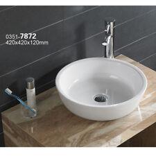 Bathroom  Ceramic Porcelain  Vessel Vanity Sink & Chrome Pop Up Drain 7872