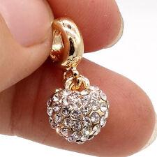 Hot 1pcs gold heart European Charm Beads fit 925 Necklace Bracelet SH795