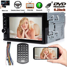 2Din Bluetooth 6.2Inch Car DVD Stereo Radio In Dash Player Mirror Link For GPS