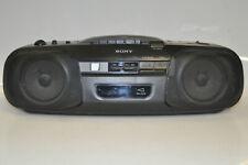 Sony CFD-8 CD Radio Cassette Tape Deck Recorder Player tragbar Anlage teildefekt