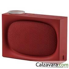 LEXON Ona Radio FM con Speaker Bluetooth - Ricaricabile - Rosso Red