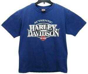 Harley-Davidson Orlando Size Large T Shirt Blue Motorcycle