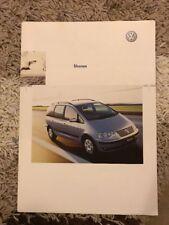 2003 Volkswagen Sharan Voiture brochure (Afrique du Sud)