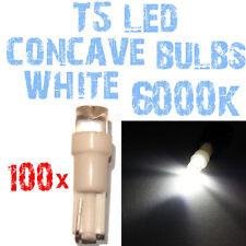 N° 100 Gloeilampen LED T5 6000K Wit Concaaf Koplampen Angel Eyes DEPO FK 2A4A 2A