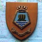 Vintage RFA Lyness HMS Painted Royal Navy Ship Badge Crest Shield Plaque