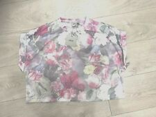 WOMENS ASOS CROPPED FLORAL TEE TOP SZ UK 10 BNWT RRP £12.99