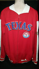TEXAS RANGERS MLB 2011 World Series Jacket Coat Jogging Sweatshirt Sz Large Red
