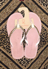 NEW Tommy Bahama 7 Halana Beach Thong Flip Flops Sandals Rose Gold COMFY