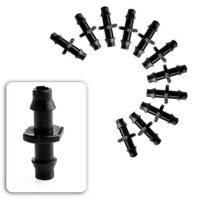100 X Plant Watering Garden Drip Irrigation System Barb Connector For 4/7mm Hose
