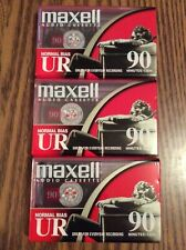 Maxell UR 90 Normal Bias Blank Audio Cassette - Sealed Set Of 3