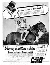 KODAK-PATHE ALGER CAMERA CINE KODAK HUIT PUBLICITE ADVERTISING 1938