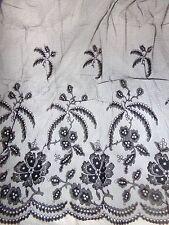 Lot of 2 Antique Late 1800's Black Chantilly Lace Net Skirt Flounce Panels VGC