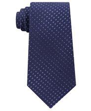 NEW $65 CALVIN KLEIN NAVY BLUE DEGRADE DASH 100% SILK NECK TIE