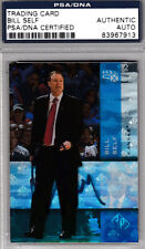 Coach Bill Self PSA DNA SIGNED KU Jayhawks 2010 SP Holo CARD AUTOGRAPHED Kansas