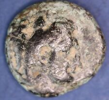 Ancient Greek AE bronze coin. 13mm, uncleaned *[14588]