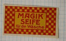 Magik Seife Magic washing soap checkered ad poster stamp label package box