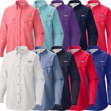 "New Womens Columbia PFG ""Bahama"" Omni-Shade Vented Fishing Long Sleeve Shirt"