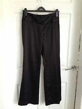 Ladies Black Next Satin Wide/Bootcut Trousers 👖- Size 8R
