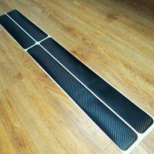 Car Black 4D Carbon Fiber Scuff Plate Door Sill Cover Panel Step Protector Guard