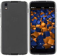 mumbi Hülle f. Blackberry DTEK50 Schutzhülle Case Tasche transparent schwarz