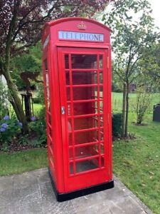 Real Original Red English Telephone Box, Echte Rote Englische Telefonzelle Neu