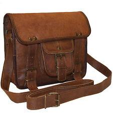 New Men's Vintage Genuine leather Shoulder Messenger bag Small Handbag Satchel