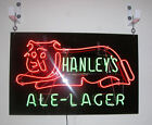 Hanley's ALE-LAGER NEON WINDOW SIGN. WAY COOL