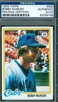 Bobby Murcer Autograph 1978 Topps Psa/dna Signed Authentic