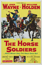 The horse soldiers 1959 John Wayne William Holden movie poster print