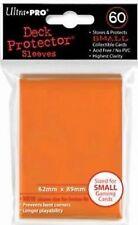 60 Bustine Protettive Ultra PRO Yu-Gi-Oh! ORANGE Arancione Buste Small Sleeves