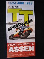 Flyer TT Assen, zaterdag 24 juni 1989 Circuit van Drenthe (TTC)