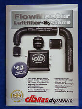 dbilas FlowMaster Luftfilter Systeme - Audi BMW Opel VW - Prospekt Brochure 2017
