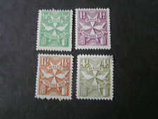 MALTA, SCOTT # J11/J12(2)+J13+J17 TOTAL 4 1925 POSTAGE DUE ISSUE MH