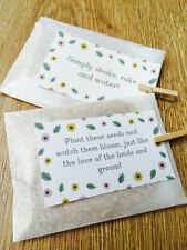 10 x Handmade Wedding Seed Favours, Wildflower Seed Packets, Watch Them Bloom