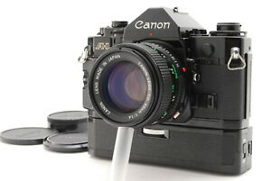 Near MINT/ Canon A-1 + New FD 50mm F1.4 + POWER WINDER A from Japan #1380