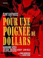 Affiche 40x60cm POUR UNE POIGNÉE DE DOLLARS 1966 Leone, Clint Eastwood R2015 NEU