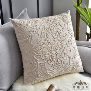 50 x 50 Embroidery Sofa Cushion Cover Home Decoration Decorative Pillows
