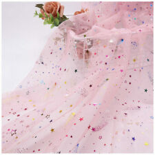 Glitter Meteor Star Mesh Net Fabric Tulle TUTU Fairy Dress Curtain Backdrop 1.6m