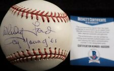 """BECKETT WHITEY FORD """"CY YOUNG '61"""" SIGNED MLB BUD SELIG GAME BASEBALL AA20266"""